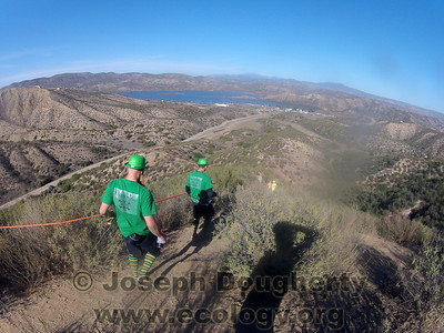 Lots of long dusty hills as we run the crests and flanks of the terrain around Vail Lake, near Temecula, CA.