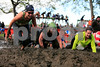 A total of 4,000 adults get ready at the start line of the Merrell Down and Dirty National Mud Run Series at Orchard Beach, NY on Sunday, Oct. 3, 2010. The fun mud run composed of 10k, 5k distances. 360 children competed in one mile and 100 yard dash with military type obstacles.