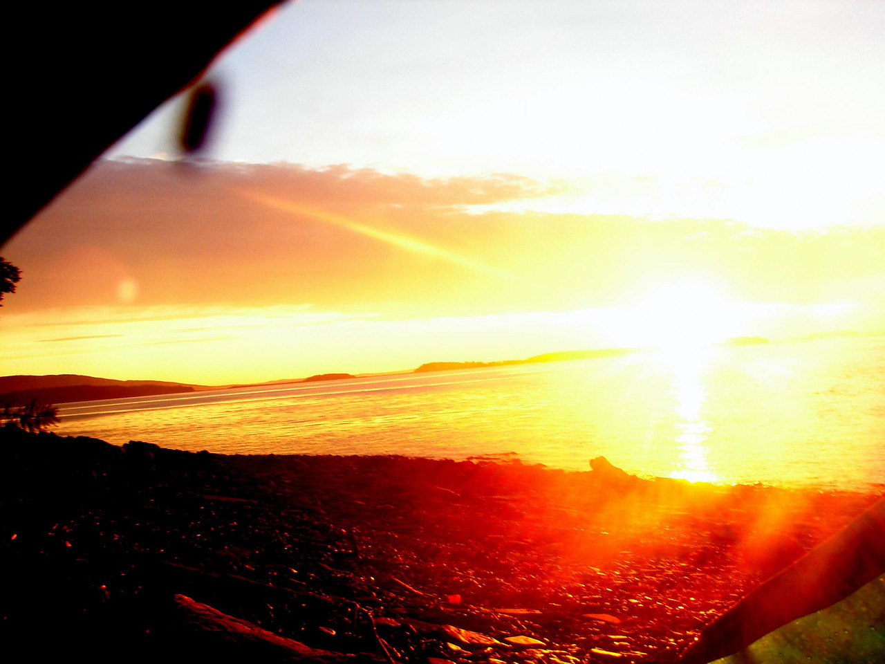 Sunrise from the tent.....skeeters were lying in wait just outside...