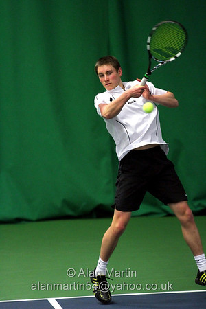 Harry Meehan in action at the Aegon GB Pro-Series Wirral - Feb 2014