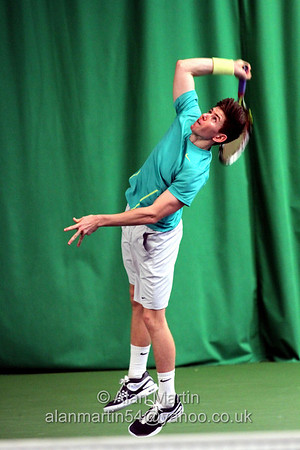 Adam Thornton-Brown in action at the Aegon GB Pro-Series Wirral - Feb 2014