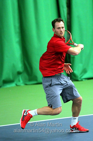 Action from qualifier finals of Aegon GB Pro-Series Wirral - Feb 2014