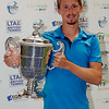 Josh Milton of Cardiff wins the Mens singles final at Aegon Pro-Series Manchester