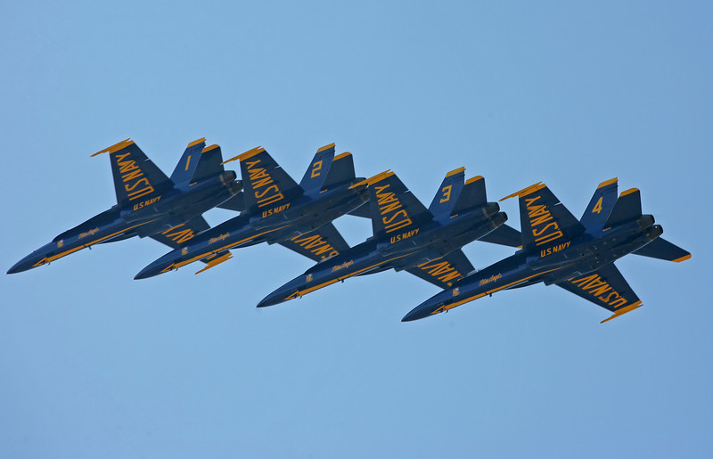 Blue  Angles Fly by Airfest 2010