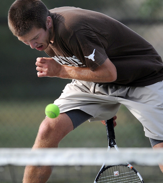 Mauldin tennis standout Alan Pierce holds the record (Boys) for most career wins at Mauldin with 119. Pearce, coached by Lee Taylor, is a six-year starter and a five-time All-Region player.<br /> GWINN DAVIS PHOTOS<br /> gwinndavis@gmail.com  <br /> (864) 915-0411<br /> gwinndavisphotos.com