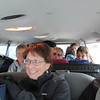 Crammed into the rental van and off to get fitted out