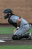 Aledo catcher #11 Creed Willems takes a ball to the body to keep a low pitch that bounced off home plate in front of him.