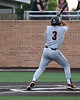 Aledo 3rd baseman #3 Hunter Rudel takes a direct hit to the left shoulder by an errant pitch.