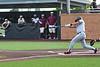 #3, Aledo 3rd baseman Hunter Rudel hits a double to keep the Bearcats rally going.