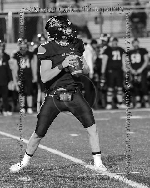 #9 Aledo quarterback Brant Hayden drops back to pass.