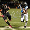 Arlington Seguin player #4 Diesel Gordon heads upfield with Aledo's #26 Sammy Steffe in pursuit.