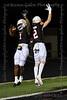 Aledo receivers #1 JoJo Earle and #2 Jaedon Pellegrino celebrate after Earle scores Aledo's first touchdown.