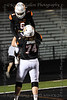 Aledo OL #74 Grant Jefferis gives #6 Aledo RB Demarco Roberts a lift as they celebrate one of many touchdowns by Roberts.
