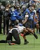 #7 Aledo S Brian Allen gets the stop with an open field tackle on North Forney RB 321