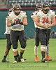 Aledo Offensive Linemen #54 Rocco O'Keefe and #74 Grant Jefferis.