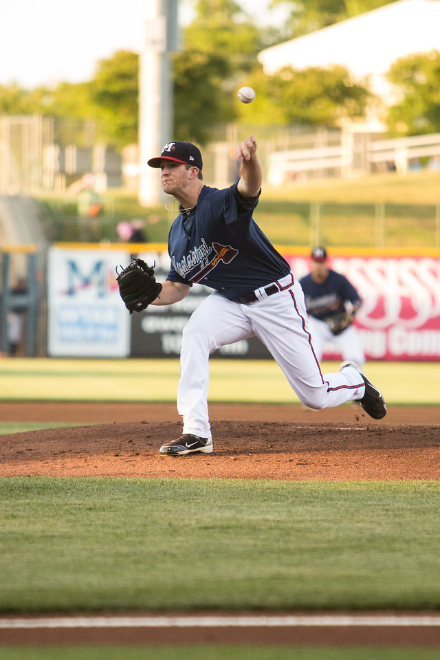 Mississippi Braves pitcher Alex Wood
