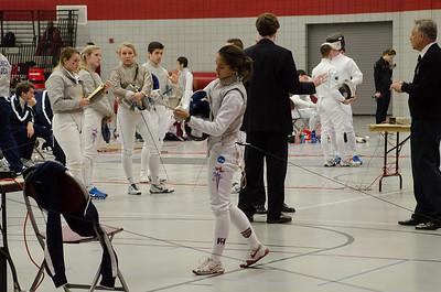 Alex fencing at SHU 12-8-13