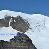 the high ice capped summit of the Alphubel in the southern swiss alps between Zermatt and Saas Fee in the Mischabel range