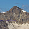 the high summit of the Zinalrothorn in the southern swiss alps between Zermatt and Zinal. this is the east face