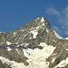 The Dent Blanche of the alpine giants in the southern swiss alps between Zermatt and Evolene. In the foreground the obergabelhorn