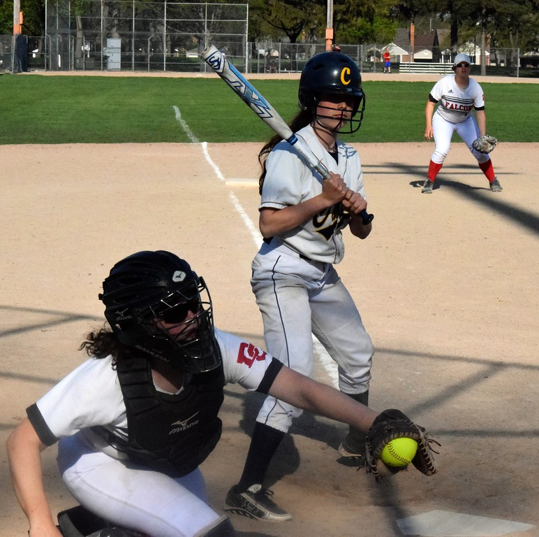 . Divine Child welcomed in Allen Park Cabrini on Tuesday afternoon and swept a doubleheader against the Monarchs. The Falcons won game No. 1 by a score of 7-6 and they took the nightcap 8-5. Photo by Alex Muller - For Digital First Media
