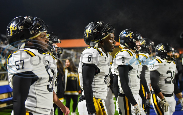 Alto players watch from the sidelines in a first-round playoff game against Cayuga on Thursday. The Yellowjackets defeated the Wildcats in the first playoff game played at the Jacksonville Tomato Bowl in 16 years. (Jessica T. Payne/Tyler Morning Telegraph)