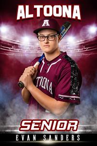 Evan Sanders Altoona Baseball Banners 2021