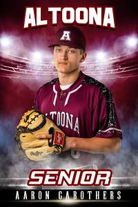 Aaron Carothers Altoona Baseball Banners 2021
