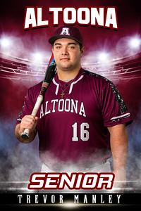 Trevor Manley Altoona Baseball Banners 2021