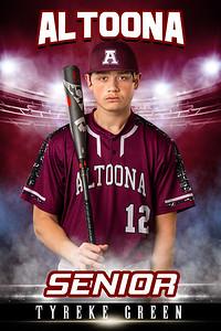 Tyreke Green Altoona Baseball Banners 2021