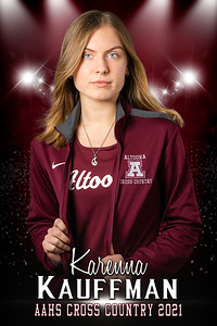Karenna KauffmanCross Country Senior Banner 2021
