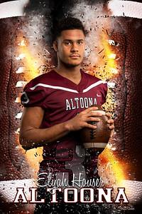 Elijah Houser Altoona Football Banners 2021 48X72 Ind