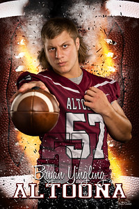 Bryan Yingling Altoona Football Banners 2021 48X72 Ind