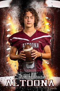 Ethan Hileman Altoona Football Banners 2021 48X72 Ind
