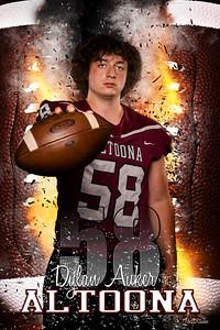 Dylan Auker Altoona Football Banners 2021 48X72 Ind