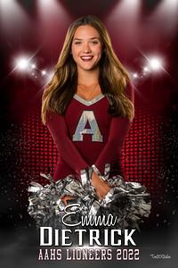 Emma Dietrick Lioneers Senior Banner 2022