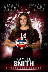 Kaylee Smith Altoona Girls VolleyBall Banners 2021-2022 48x72