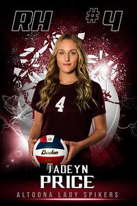 Jadeyn Price Altoona Girls VolleyBall Banners 2021-2022 48x72
