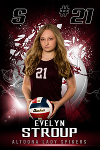 Evelyn Stroup Altoona Girls VolleyBall Banners 2021-2022 48x72