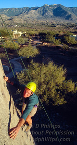 Rock climbing at Miraval Spa in Tuscon, Arizona, is part of the adventure experience.