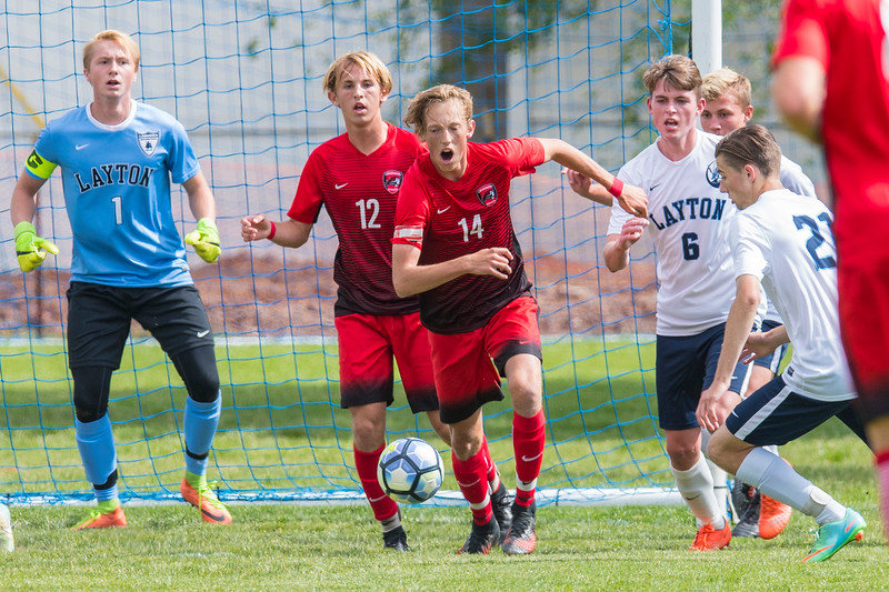 Layton advances to 5-A semifinals over American Fork with a final score 4-1 during the 5-A playoff game at Layton High school on May 19, 2017.