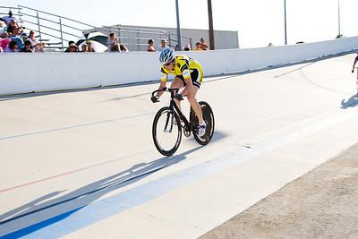 Jennifer Triplett wins the first sprint in the 3rd/4th match.