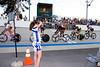 Amara Boursaw takes photos between her races.