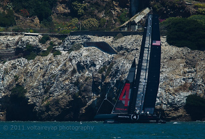 Oracle Racing with Alcatraz in the background.