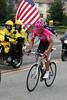 Aaron Olsen rides up Sierra Road in San Jose.