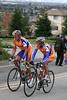 Jan Niermann and Michael Rasmussen riding up Sierra Road in San Jose.