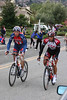 Two riders coming up Sierra Road in San Jose.