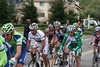 Paolo Batini, Dimitri Fofonov, and friends ride up Sierra Road in San Jose.