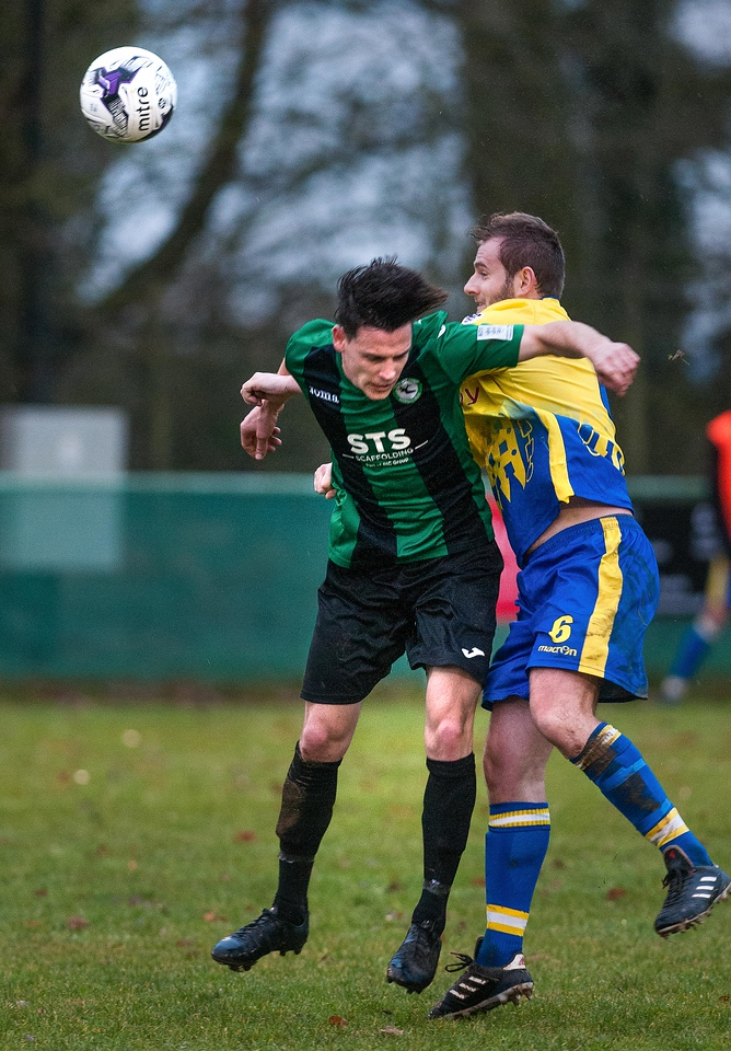 Action from Andover New Street's 3 - 2 home win over Romsey Town at Foxcotte Park. 23rd December, 2017 - Picture Andy Brooks