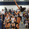 CARL RUSSO/Staff photo. Andover high was defeated by Newton North high in state volleyball semifinals Tuesday night. Andover's Marcela Familiar-Bolanos spikes the ball over the net. 11/13/2012.